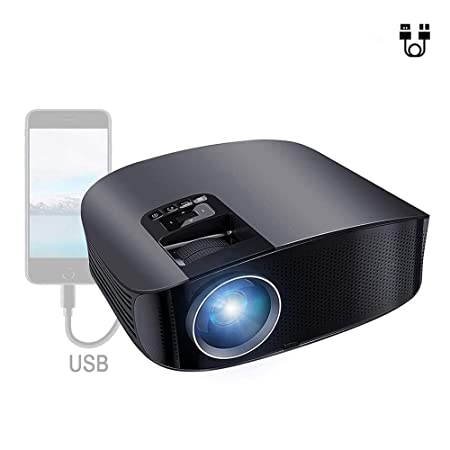 Proyector de Video HD Proyector LED 4000 Lumen con AV/VGA/USB/HDMI ...