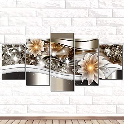 NIHAI DIY 5D Diamond Painting Kit, Full Drill Tiger Flower Series Joint Paintings Rhinestone Pasted Embroidery Cross Stitch Arts Craft Canvas DIY Diamond Paintings for Home Wall Decor (C): Arts, Crafts & Sewing