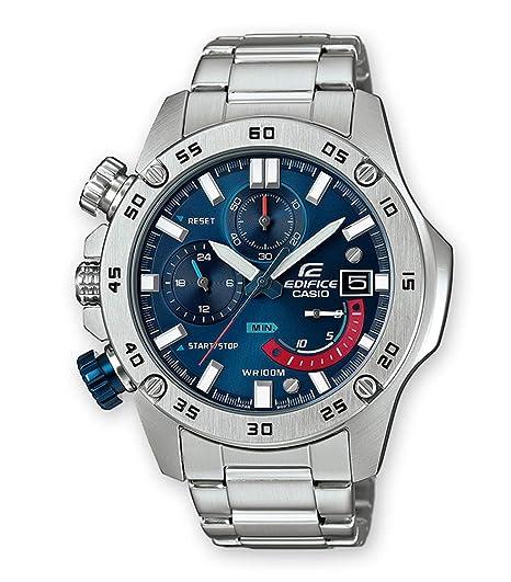 Casio Reloj Cronógrafo para Hombre de Cuarzo con Correa en Acero Inoxidable EFR-558D-2AVUEF: Amazon.es: Relojes