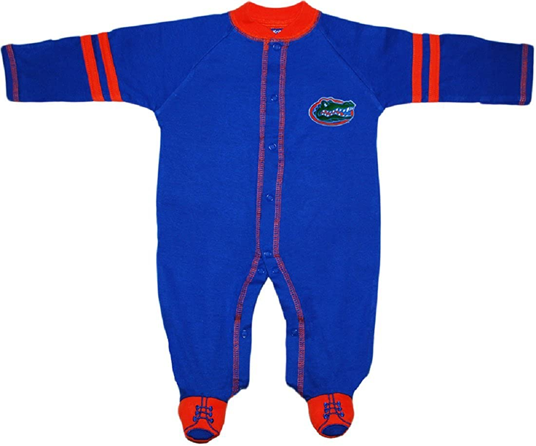 University of Florida Gators Sports Shoe Footed Baby Romper