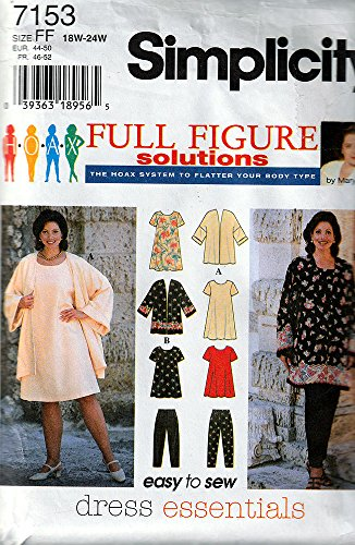 - Simplicity 7153 Sewing Pattern for Easy Women's 18w-20w-22w-24w Dress Tunic Tapered Pants Jacket