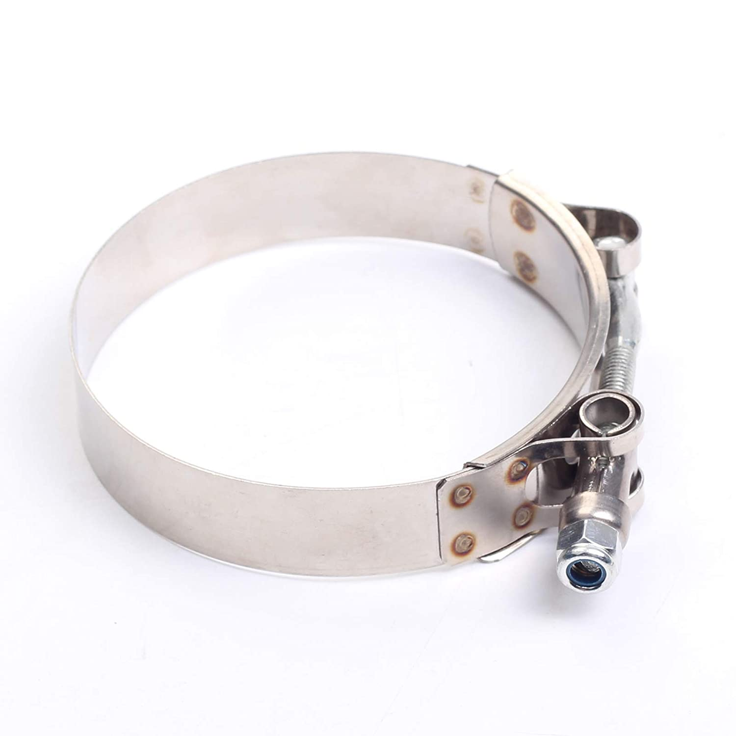 43mm Stainless Steel T-Bolt Clamps Turbo Intake Intercooler Clamp for 1-3//16 Hose 10PCS 38mm