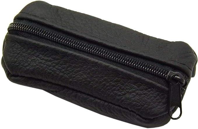 Cuero Estuches de Llave 1 Compartimento Made en UE en Negro o Rojo (Negro): Amazon.es: Equipaje
