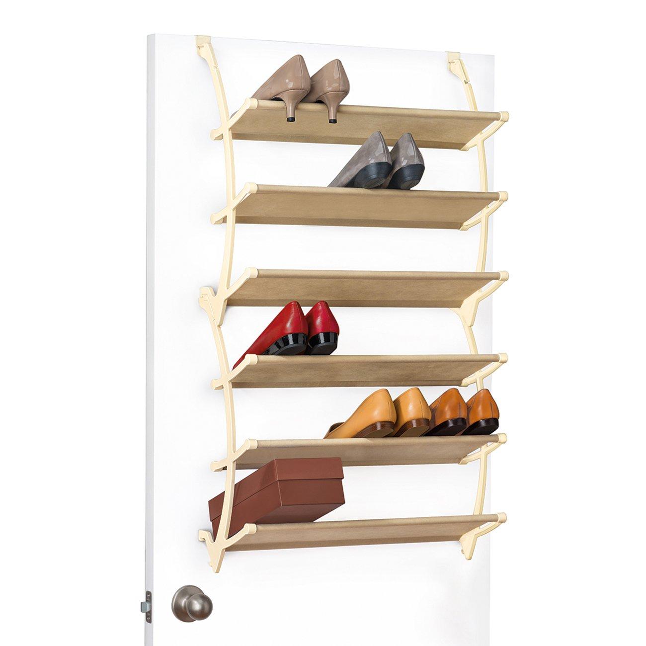 Amazon.com: Lynk Vela Over Door Shoe Shelves - Shoe Rack Shelf ...