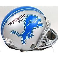 $95 » TJ Hockenson Autographed Detroit Lions Mini Helmet- Beckett W Hologram Black