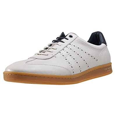 cb4dbec50e1dc4 Ted Baker Orlee Retro Mens Trainers Off White - 11 UK  Amazon.co.uk ...