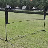 Alloet New Professional Training Square Mesh Standard Badminton Net for Family Sport Outdoor Games