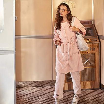 WANG-LONG Ropa De Dormir Batas Mujer Conjunto De Pijamas Señoras Camisones Ropa De Noche