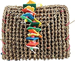 A&E CAGE COMPANY 001407 Happy beaks Vine Mat Forage Pouch Bird Toy Multi, Medium