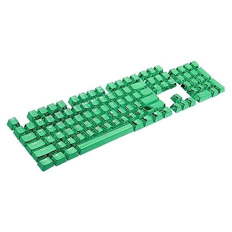 Moliies 104 Teclas con Doble Aleta PBT Solapa Doble Inversión de Color para Todos los teclados