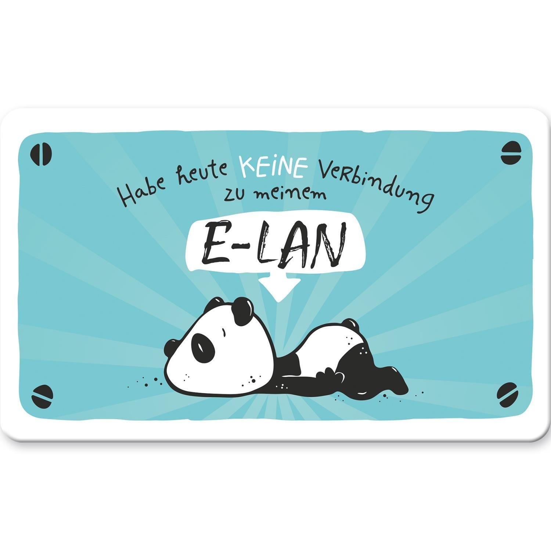Fr/ühst/ücks-Brettchen mit Spruch Habe heute keine Verbindung zu meinem E-LAN aus Resopal 14,3 cm x 23,3 cm x 0,2 cm Hope und Gloria 45669 Schneide-Brett mit Tier-Motiv Panda-B/är