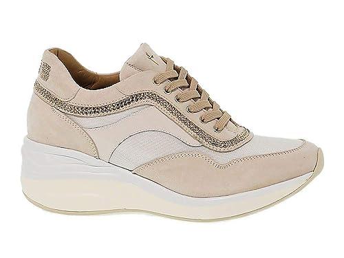 Cesare Paciotti 4Us Sneakers Donna ED13 Pelle Beige  Amazon.it  Scarpe e  borse f9b06da1608