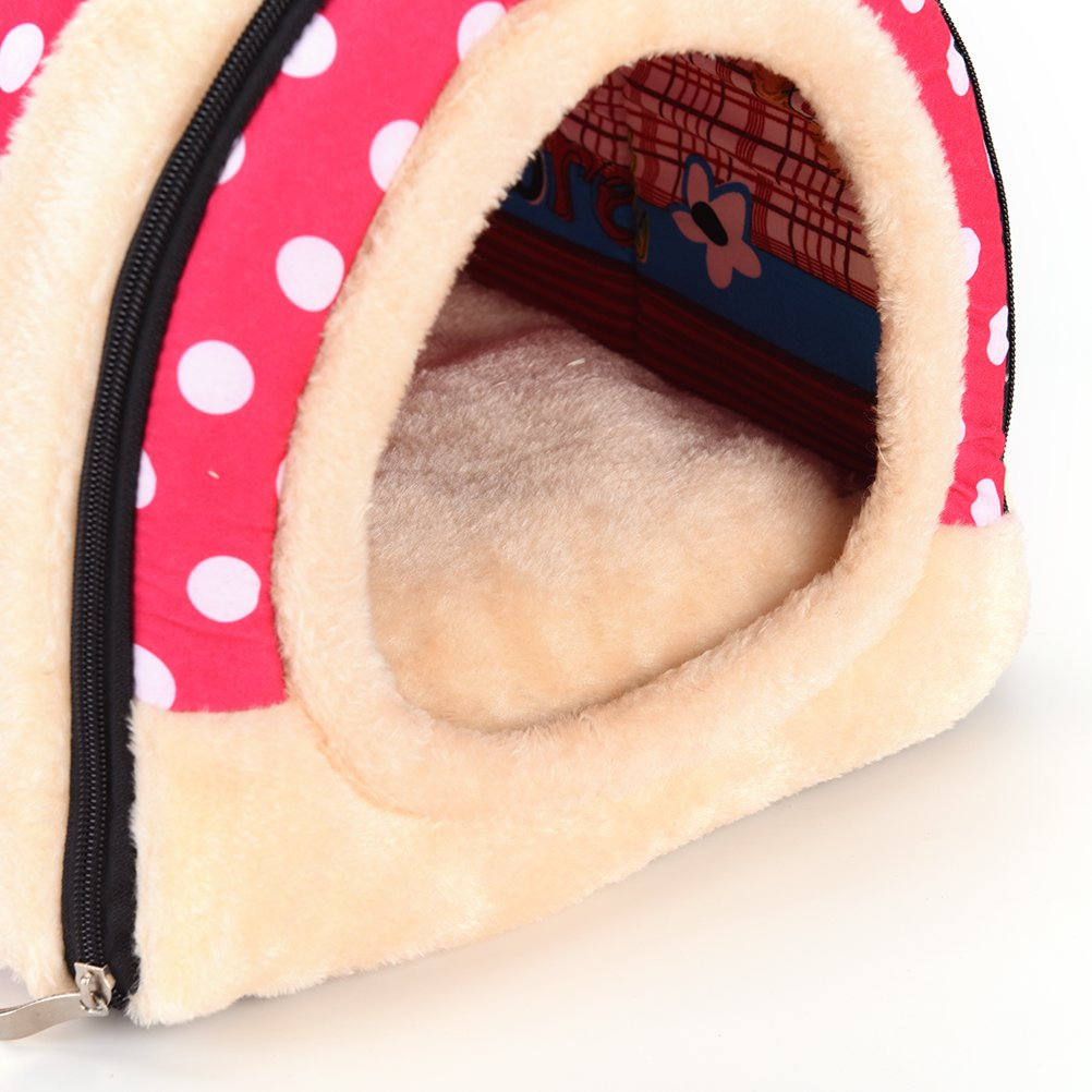 1 Pc Foldable Animal Sleep Bed Kennel Mat Pad Cushion Hanging Cozy Pet House Cage Hammock Cave Hut Winter Warm Nest Tent for Dog Cat Parrot Chinchilla Hamster Guinea Pig Rabbit Squirrel Hedgehog Rat by WWahuayuan (Image #6)