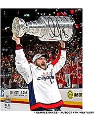 "Alex Ovechkin Washington Capitals 2018 Stanley Cup Champions Autographed 16"" x 20"" Raising Cup Photograph - Fanatics Authentic Certified"