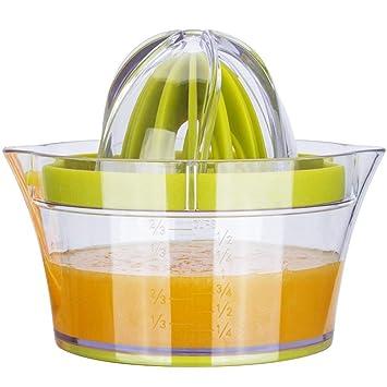 Compra G.a HOMEFAVOR Exprimidor Manual Multifuncional Naranja limón cítricos con 2 Remaches y Recipiente medidor en Amazon.es