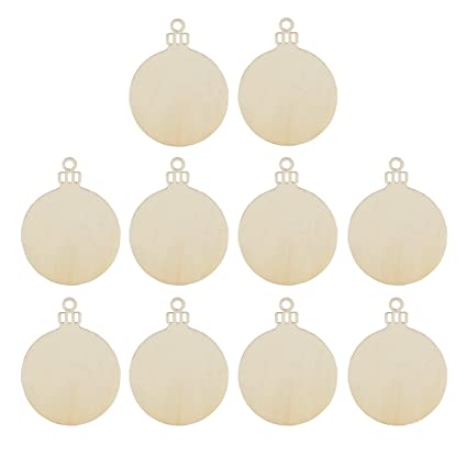 ROSENICE Wooden Gift Tag Round Bauble Hanging Christmas Ornaments Tree Blank  Decoration 10pcs - Amazon.com: ROSENICE Wooden Gift Tag Round Bauble Hanging Christmas