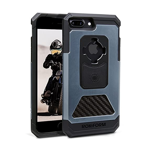 huge discount 5d572 bc91e Rokform Fuzion Pro Series iPhone 8 Plus Case / iPhone 7 PLUS Case  Protective Aluminum & Carbon Fiber Magnetic Case with twist lock &  universal ...