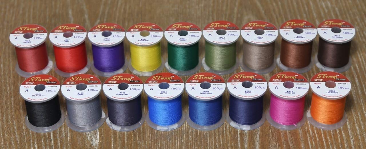 Hitena STWRAP Rod Wrapping Thread – Nylon Winding Thread. Wraps Super Easy. Sits Perfect Flat. Consistent Tension. Less Fuzzy. Most Acclaimed by Professional Builders