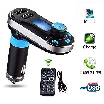 Cargador de coche Puerto USB doble Transmisor de FM Reproductor de ...