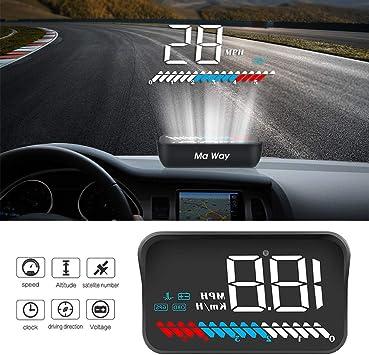 Auto Hud Head Up Display 3 5 Zoll Hud Gps Obd2 Dualsystem Elektronik
