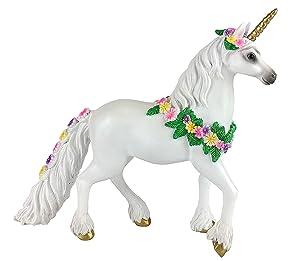 GlitZGlam Genevive The Golden Unicorn for Your Enchanted Fairy Garden. 6.5 inches Tall Fairy Garden Accessory