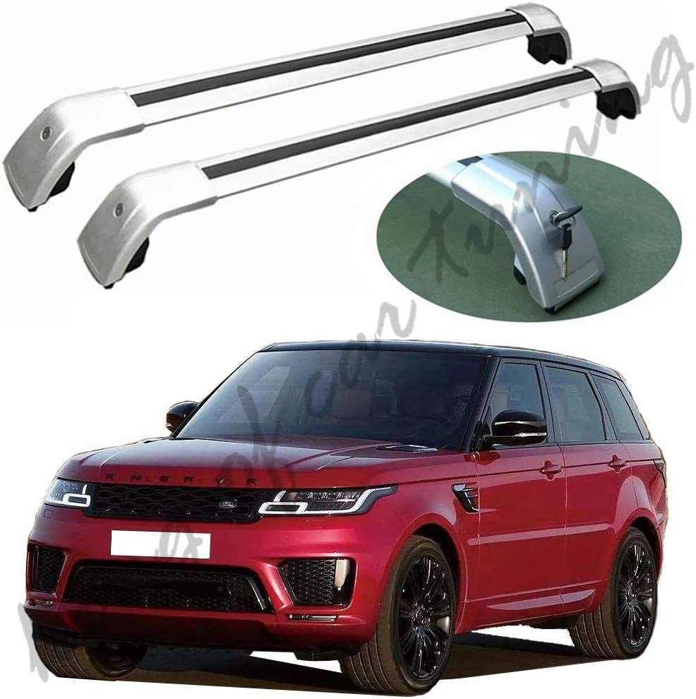 king of car tuning Silver Crossbars Cross Bars Roof Rail Racks Fits for Land Rover Range Rover Sport 2014-2019