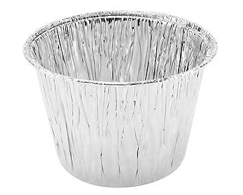 7 ml de aluminio desechables tarta de hornear tazas/tazas/vasos de postre # 1210nl (sin tapa) 7 oz plata: Amazon.es: Hogar