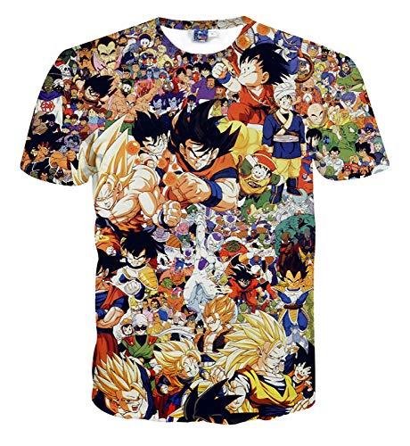 Hlh Serie shirt 1 Dragon Uomini Ricordi 3d Wukong Ball Maglietta Maniche Digital Donne D'infanzia E Printing A Cartoon Corte T 0R0qra