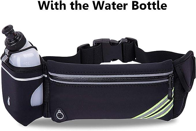 Riñonera para correr con soporte para botella de agua y exterior ...