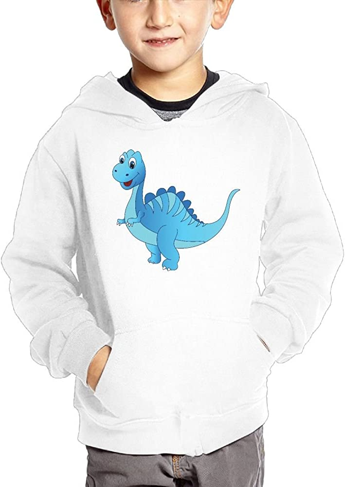 JasonMade Dinosaur Of Blue Kids Fashion Popular Hooded Hoodies With Pocket