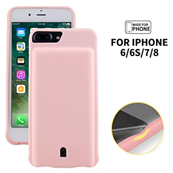 hot sale online 8e2d3 8ce2e REDGO iPhone 7 6 6s Smart Battery Case, 4500mah Battery Case, Rechargeable  Extended Battery Charging Case for iPhone 7 (4.7 inch), Soft Silicone Back  ...