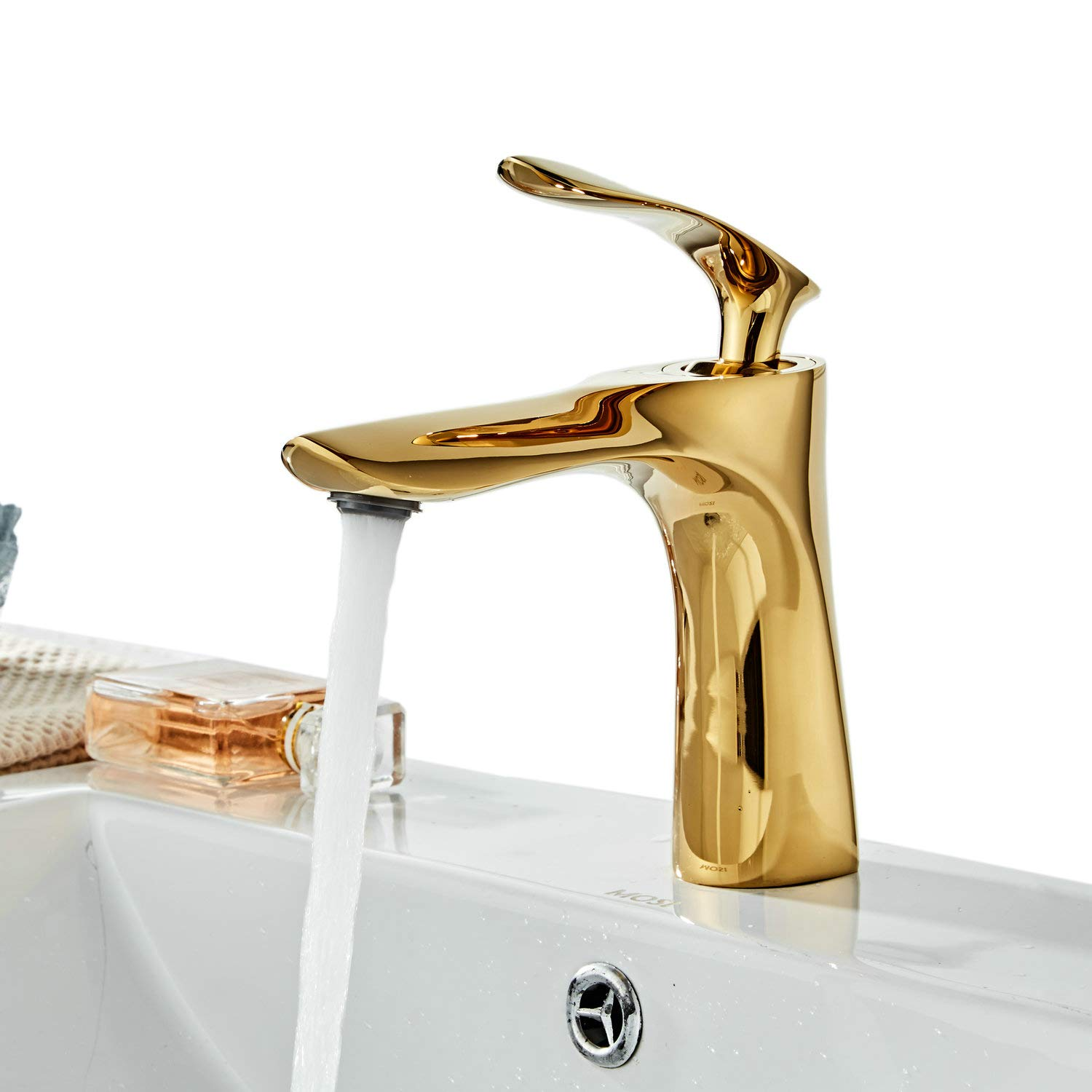 Tall Counter Top Basin Mixer Tap Curved Bathroom Sink Tap Designer Style,Chrome, XY1003CH,XINYU XINYU TRADE