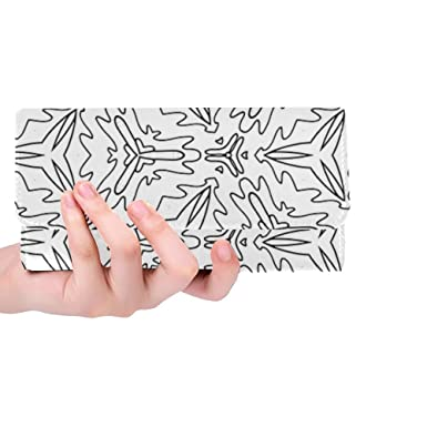 Unique Custom Pattern Design Pretty Cool Art Adult Coloring Women Trifold Wallet Long Purse Credit Card