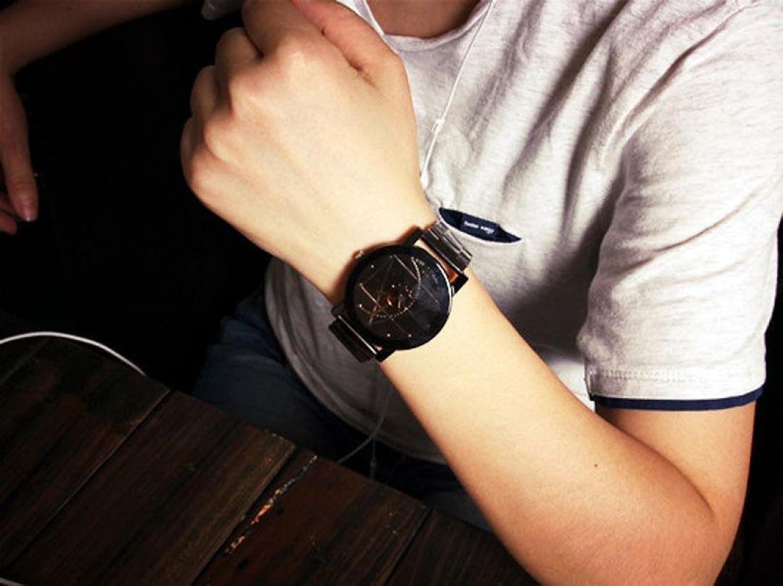 Wrist watches brands for mens - Amazon Com Creazy Fashion Watch Stainless Steel Man Quartz Analog Wrist Watch Black Watches