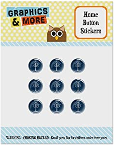 Lord of The Rings Tree of Gondor Set of 9 Puffy Bubble Home Button Stickers Fit Apple iPod Touch, iPad Air Mini, iPhone 5/5c/5s 6/6s 7/7s Plus