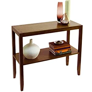 WATSONS ANYWHERE - Table basse console en massif - finition noyer