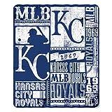 MLB Kansas City Royals Strength Printed Fleece Throw, 50-inch by 60-inch