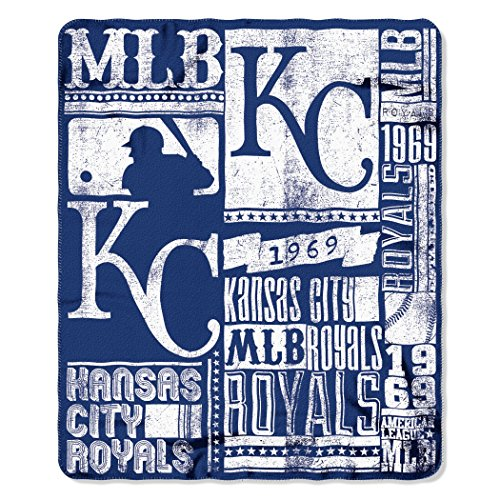 The Northwest Company MLB Kansas City Royals Strength Fleece Throw Blanket 50-inch by 60-inch, ()