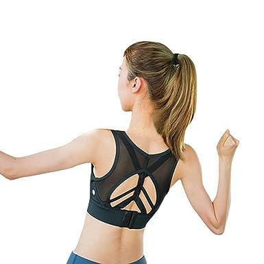Forts Yoga Soutien Sans Débardeur Impacts Wenyujh Sport Gorge Femme yfgYb67