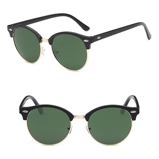 983c5c371c904 Nuni Iridium Coating Mirrored Lenses Round Browline Sunglasses Small Size ( black