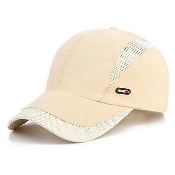 LAOWWO Sombrero de Gorra de Béisbol, Secado Rápido Delgado Gorra de Running Golf Deportes Gorros para El Sol para Hombres Mujeres (Khaki): Amazon.es: ...