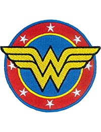 "Ata-Boy DC Comics Wonder Woman Logo 3"" Full Color Iron-On Patch"