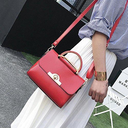 Aoligei Pu femme sac à main Simple bosse unique sac messager couleur A