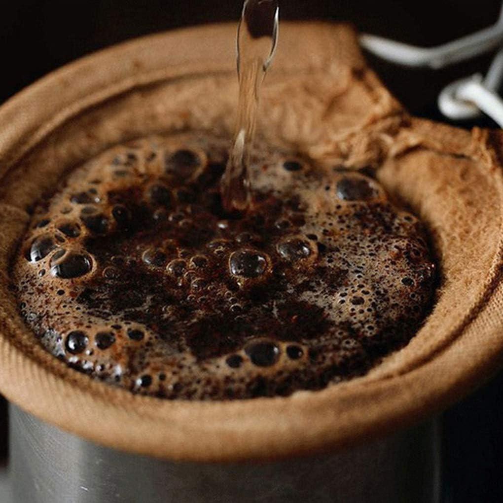 Morza Reutilizable Filtro de caf/é Bolsa de manija del Acero Inoxidable de la Franela de Tela colador de Malla ca/ída Pot Cesta Herramientas