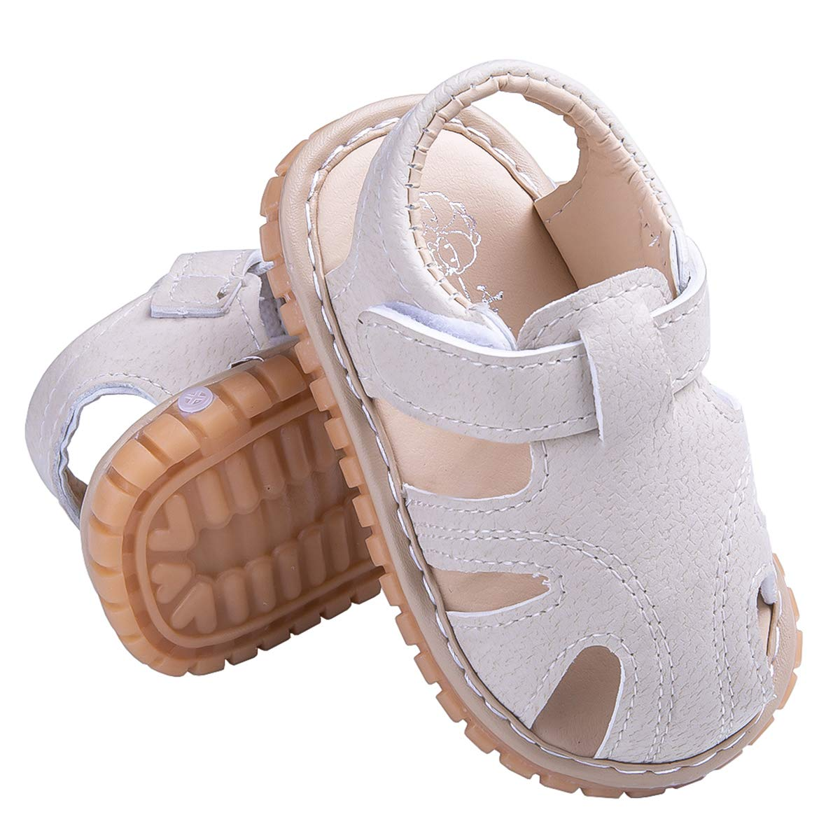 Baby Summer Sandals Toddler Infant Boys Girls Rubber Sole Removable Squeaker First Walker Shoes