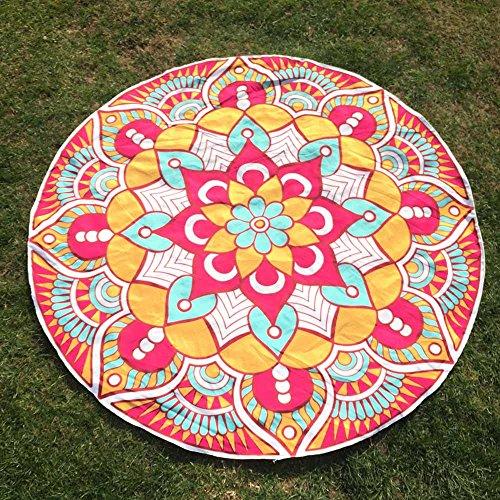 DMZing Round Printing Hippie Tapestry Beach Picnic Throw Yoga Mat Towel Blanket ()