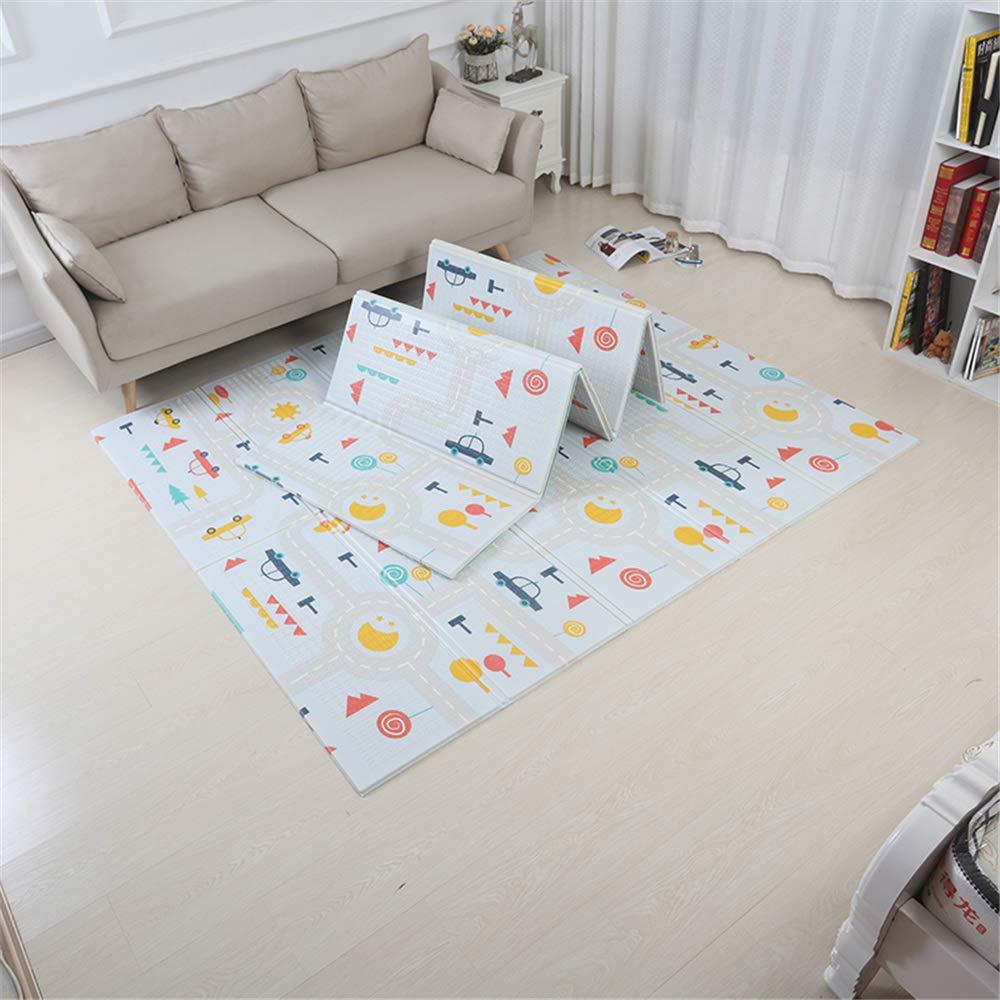 Alfombrilla de juego para beb/és Cuidado de beb/é plegable Alfombrilla de juego XPE Alfombra para alfombrilla de arrastre de piso Alfombrilla para beb/é Belupai Alfombrilla de gateo para ni/ños