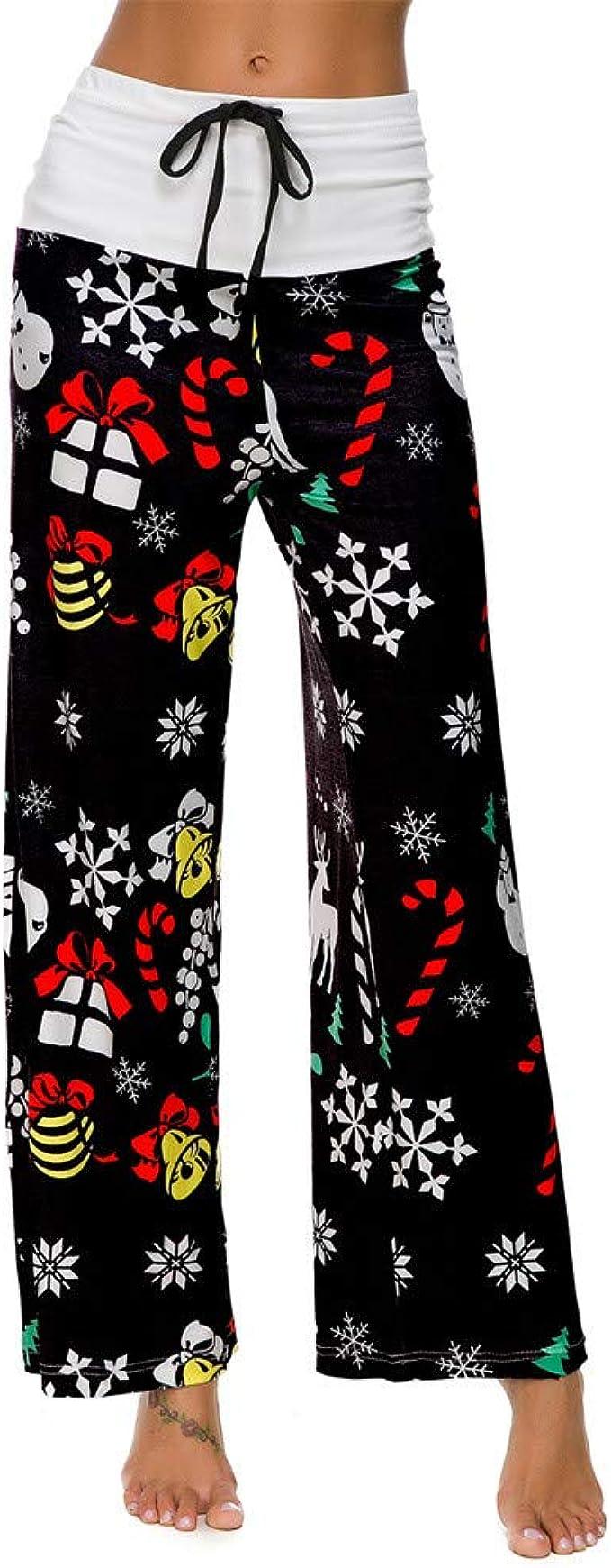 Sylar Pantalones Para Mujeres con Curvas Moda Impresión De Navidad ...