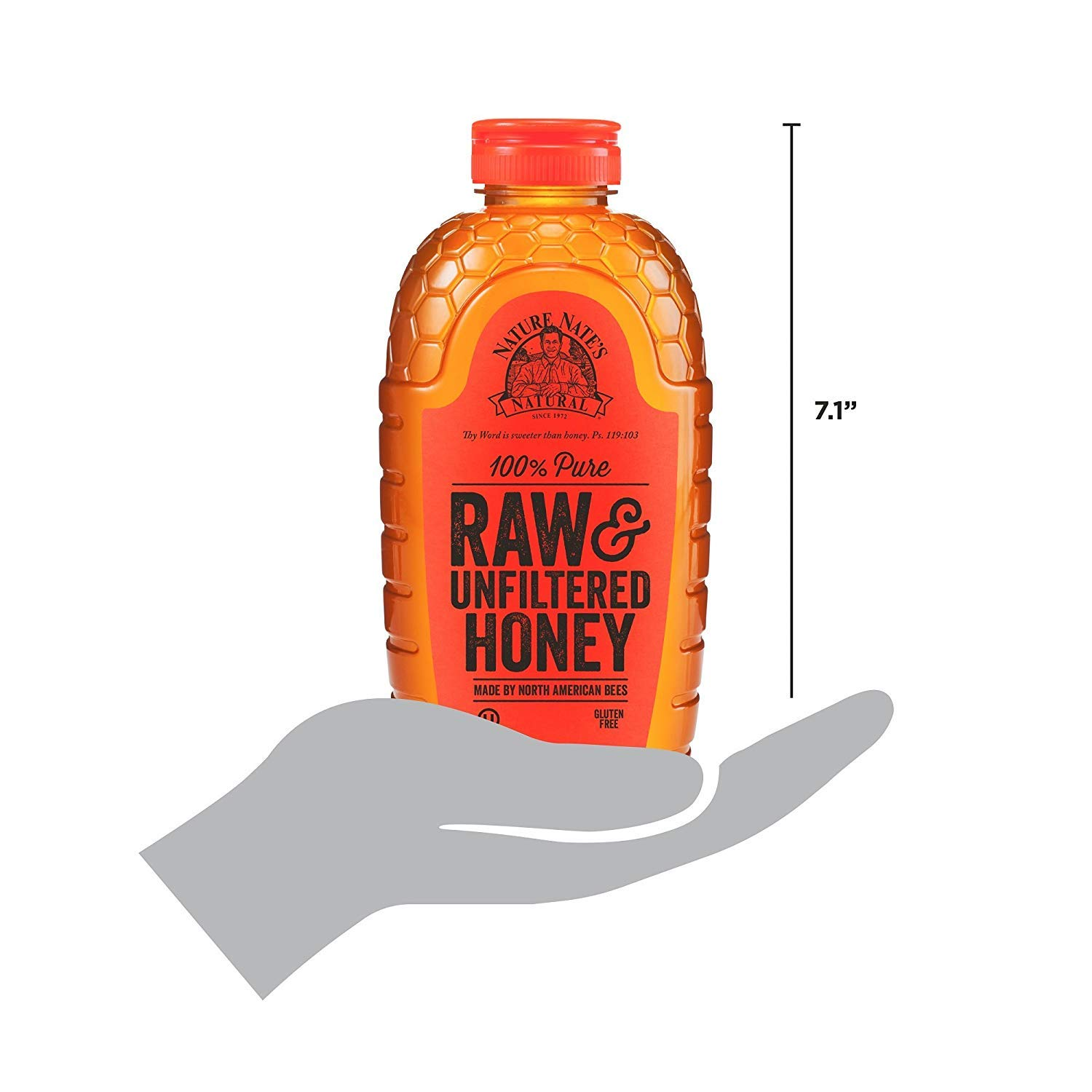 Nature Nate's 100% Pure Raw & Unfiltered Honey; 32-oz. Certified; Enjoy Honey's Balanced Flavors, Wholesome Benefits and Sweet Natural Goodness, 5 Pack by Nature Nate's (Image #4)
