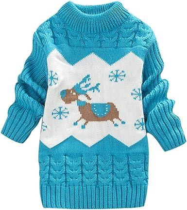 Conquror Bébé Filles Noël Pull Tricot De Crochet Vêtements